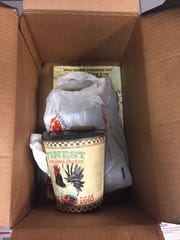 This box was found abandoned in the Ringgold post office,