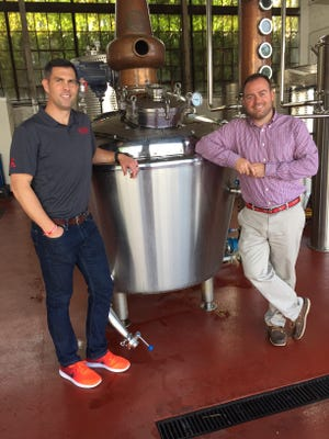 Central Standard Craft Distillery Co. owners Pat McQuillan and Evan Hughes show off their new distillery on Milwaukee's near west side.