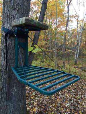Affordable, portable elevated stands like this one have given deer hunters many more options on where to hunt.