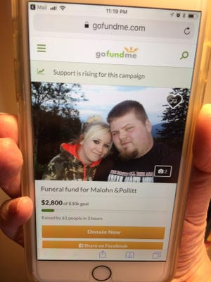 A GoFundMe page set up to help pay funeral expenses for the family killed in a head-on collision raised almost $3,000 in three hours.