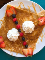 The crepes at Authentique French Creperie are made in the traditional French way, super thin and light in texture.