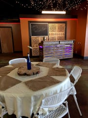 The cart barn at Judith Shadows Golf Course has recently been turned into an events venue.