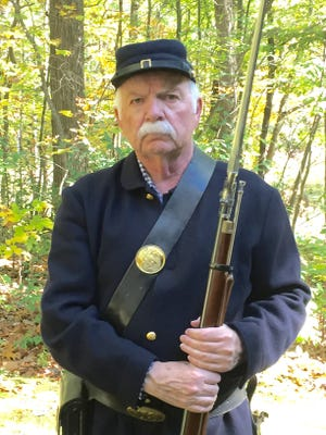 Larry Hathcock – in uniform – will relate the Civil War story of Tom Tucker.