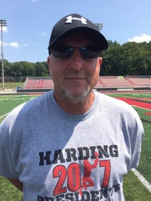 Marion Harding football coach John Brady