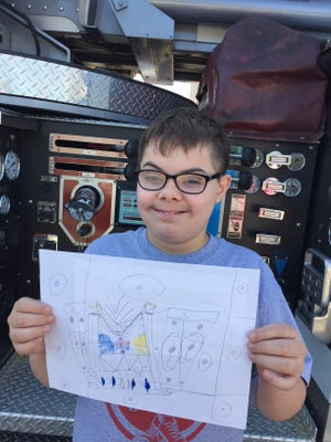 Riley Robinson will travel to the Governor's Mansion after winning first place in the state's Fire Prevention Poster Contest.