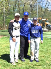 Paul Sarlo (D-Bergen), center, along with his two sons,