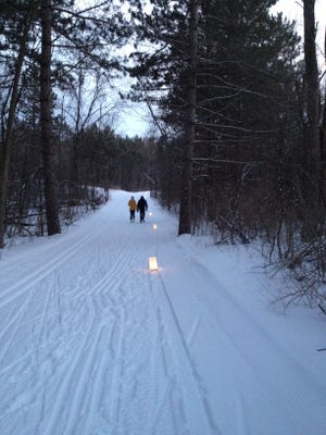 The Kettle Moraine-Northern Unit's Zillmer 1.2-mile brown loop will be lighted by the soft glow of candle luminaries during the Candlelight Ski/Hike on Saturday. Also taking place will be Winter Star Gazing.