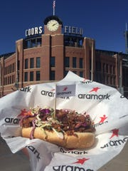 A new loaded hot dog at Coors Field.
