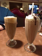 Root Beer float and chocolate milkshake at River Park
