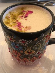 Lebanese Chai Latte looks like a work of art at Suraya in Philadelphia.