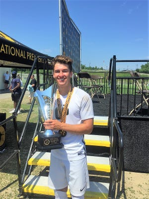 Pleasant grad Logan Thompson of the Ohio Premier Soccer Club poses after helping the team win the Elite National Premier League 19U national championship recently.