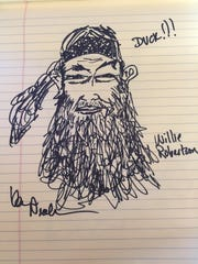 Kevin Nealon's sketch of Willie Robertson.  Robertson is also golfing in the ACC this week.