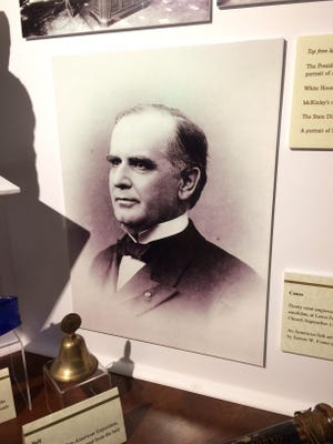 William McKinley is pictured in a display in the McKinley Gallery at the Wm. McKinley Presidential Library & Museum.
