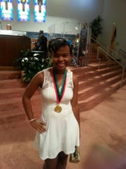 Simone Moten, a Pingry School alumna, won a gold medal in National NAACP ACT-SO youth olympics this summer.