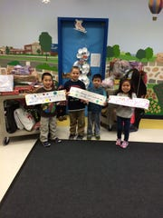 During December, students at Milltown School in Bridgdewater learned about the joy of giving and caring for others through service learning activities/lessons in the classrooms and through the 4th Annual Snowbuddy Holiday Gift Drive. Some of the school's participating Snowbuddies are pictured here.