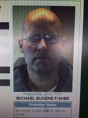 A screen shot of Michael E. Fisher on the State of Vermont Sex Offender Registry.