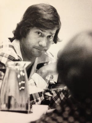 Lewis Katz listens to a resident speak while he was Camden County deputy freeholder director in 1976.