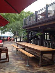 There's a really great multi-level deck in front of the Rookwood Restaurant in Mount Adams.