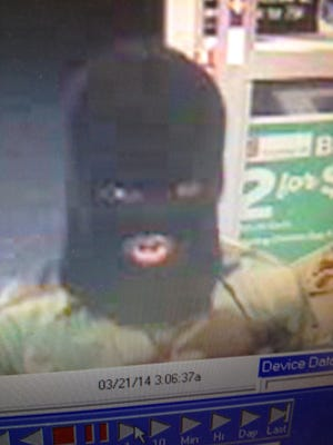 Surveillance image of a suspect in a Bonita Springs armed robbery.