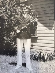 Stan Morton in his high school band uniform