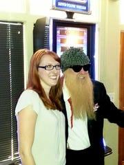 Holly Sheppard and Billy Gibbons of ZZ Top