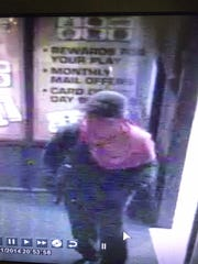 Sparks police released a photo of a suspect involved in an armed robbery of a local bar Sunday night. The photo was taken from a security video at JJ's Sports & Spirits.