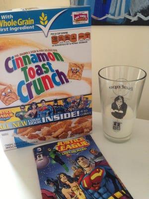 Specially marked boxes of General Mills cereals will include 'Justice League' comics through the end of April.
