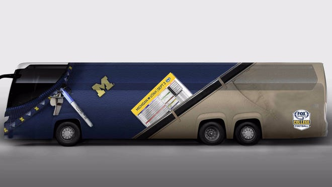 A Jim Harbaugh bus