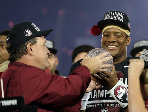 No. 1 Florida State (14-0 in 2013): 1543 points <p> </p>