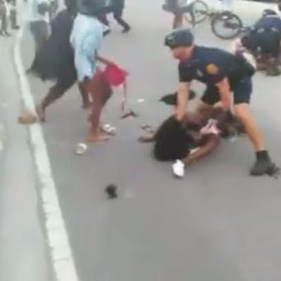 Four women were arrested after this fight broke out