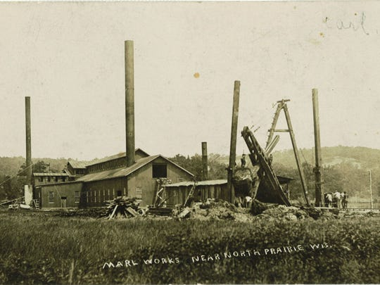 This is what the marl plant looked like in the early 1900s.