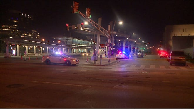 IMPD officers were called to the IndyGo bus depot Downtown just after midnight on a report of a person shot.