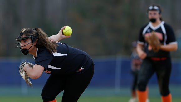 Pawling's Kayla Chavarri pitches during Tuesday's game