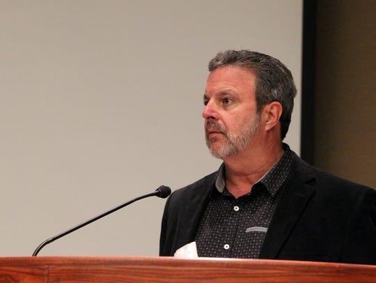 Bethel Church senior leader Kris Vallotton speaks Tuesday
