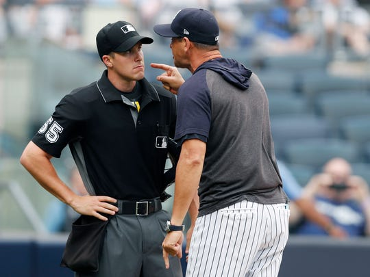Yankees manager Aaron Boone offers savage criticism of home plate umpire during ejection