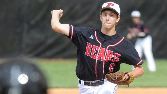 Pisgah's Bryce Burgess pitches on Tuesday in Canton.