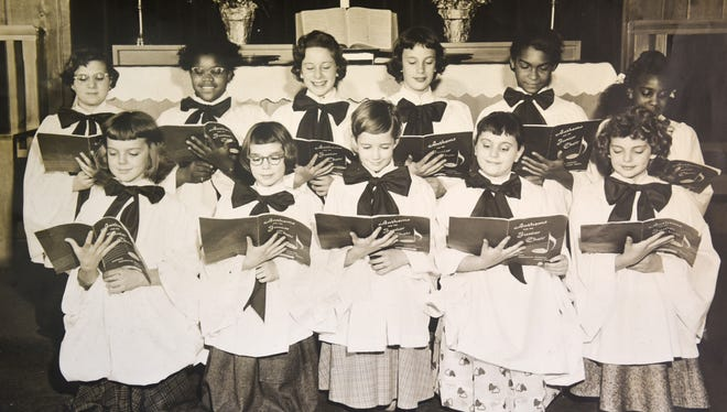 Reader John Moyer shared this photo of the Fort Indiantown Gap chapel choir that he said was taken on Easter Sunday of 1958 or 1959. Richard Spahr was the choir director. Moyer does not have all of the names of the choir members, but these are the names that he knows: front row from left, Bettelou Kille, ? Wiseburg, Barbara Smoker, Ann Briand and Pamela Heck, back row from left, Courtney Wiseburg, ? Washington, Charon Stouffer, Judy Snyder, ? and ?