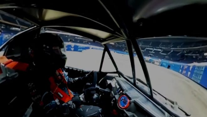 In this 360 degree video, we take you to Monster Jam with athlete Camden Murphy, driver of Pirate's Curse, to see what it's like to drive his Speedster on the field at Nashville's Bridgestone Arena.
