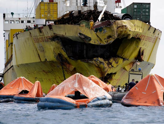 AP APTOPIX Philippines Ferry Collision