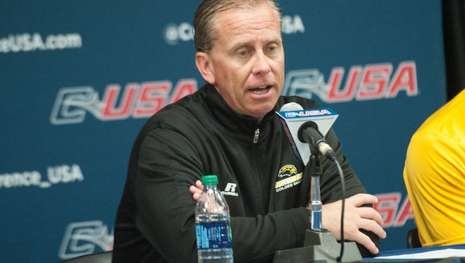 Southern Miss football coach Todd Monken announced he was taking the offensive coordinator job with the Tampa Bay Buccaneers on Sunday.