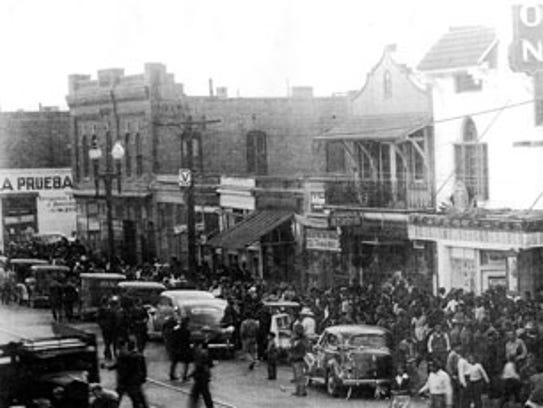 Historic South El Paso Street in Downtown El Paso