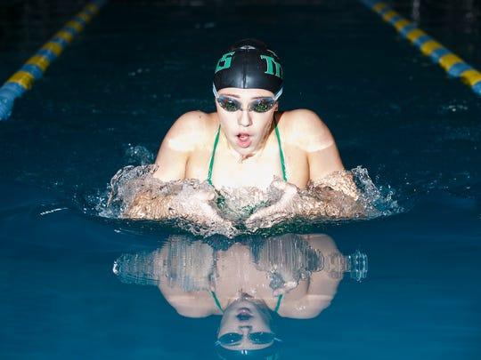Hannah Bodkin at West Salem swim practice on Monday, Jan. 23, 2017.