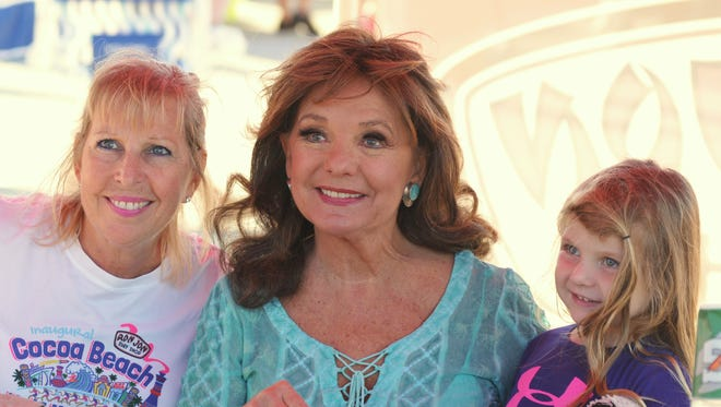 """The Ron Jon Cocoa Beach Half Marathon special guest was Dawn Wells, who played Mary Ann on """"Gilligan's Island"""". Wells met with a long line of fans like Lynn Callahan and her granddaughter, Lily, 4, of Orlando."""