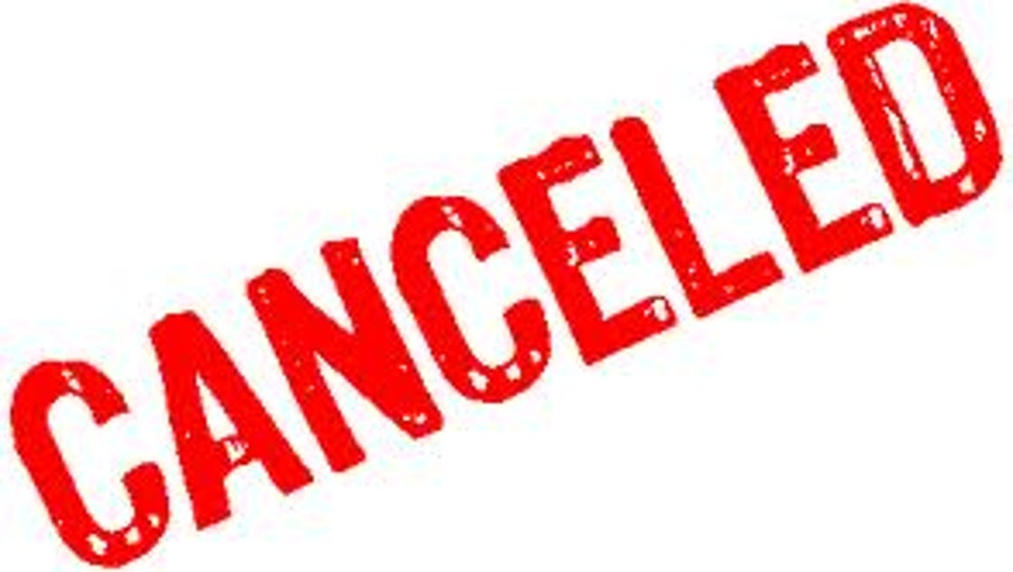 canceled events because cancelled due dominica