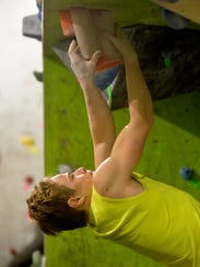 Christian Buhler, age 13, a member of the Hi-Line Climbing