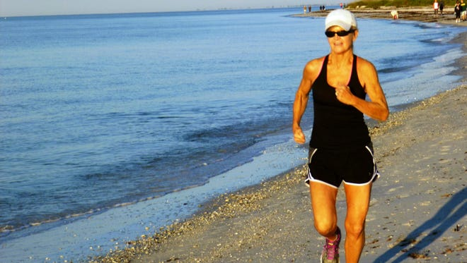 Laurie Herman, 64, continues to run to stay on top of the various races she participates in.
