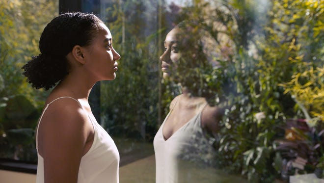 """In """"Everything, Everything,"""" Maddy (Amandla Stenberg) often spends time in an  open, glass-heavy room designed to approximate the feeling of being outside."""