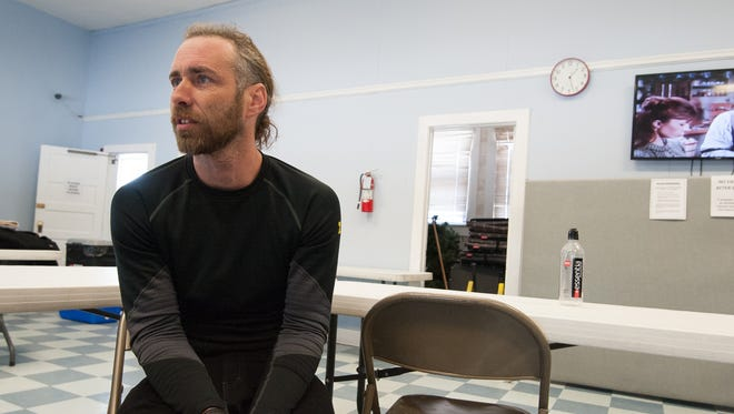 Eric Smith finds warmth, food and a place to shower and shave at Immanuel Shelter near Rehoboth Beach.