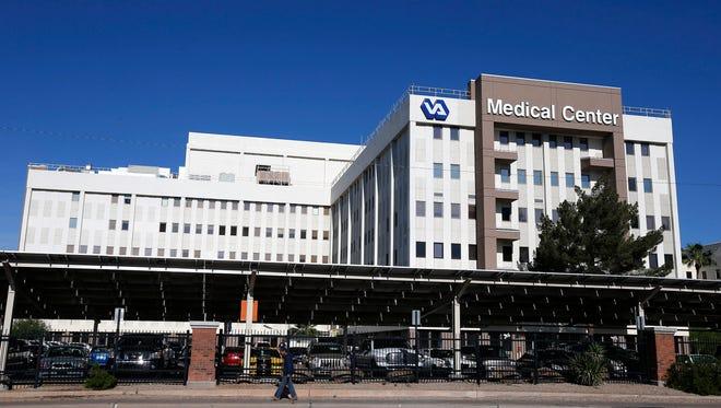 This April 28, 2014 file photos shows the Phoenix VA Health Care Center in Phoenix.