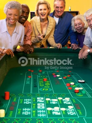 People playing craps.